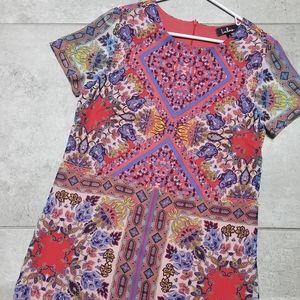 Lulus midi kaleidoscope print dress